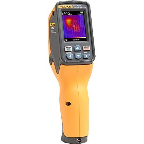 Fluke VT04A - Tamaño de bolsillo, infrarrojos (IR) termómetro visual/cámara térmica/imagen térmica/lector de temperatura con imágenes de mezcla térmica ajustable/mezcla de mapa de calor, tecnología PyroBlend Plus y tecnología de presentación de informes SmartView