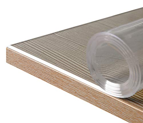 BEAUTEX Glasklar Folie 2 mm + abgeschrägte Kante, transparente Tischdecke Tischschutz, Made in Germany, Wunschmaß, Größe wählbar (Breite 80 cm x Länge: 120 cm)