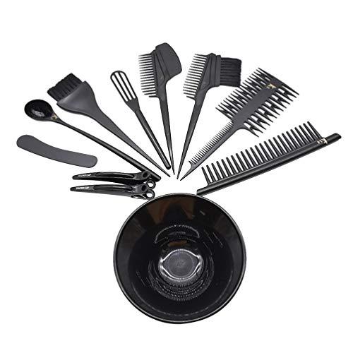 Beaupretty 11 Pcs Kit De Teinture Pour Les Cheveux Kit De Teinture Pour Les Cheveux Couleur Brosse Applicateur Bol Clips De Coupe Peigne Kit De Coiffure Pour Salon De Coiffure