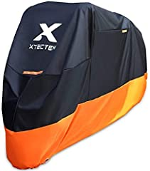 IMPROVED WEATHER PROTECTION – Made of high quality NYLON OXFORD material,protect your motorcycle against rain, dust, tree & inclement weather with top to bottom coverage. BREATHABLE FABRIC – Unlike other car and vehicle covers that trap heat, our bre...