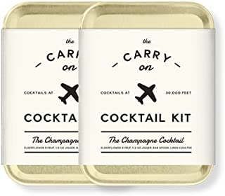 W&P MAS-CARRY-CC-2 Carry on Cocktail Kit, Champagne...