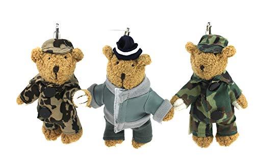 Militär Teddy Schlüsselanhänger Set