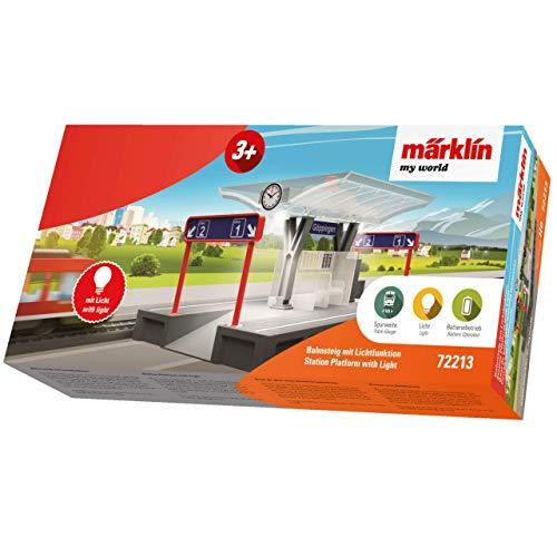 """Märklin 72213\"""" Bahnsteig mit Licht-My World Fahrzeug, Bunt"""