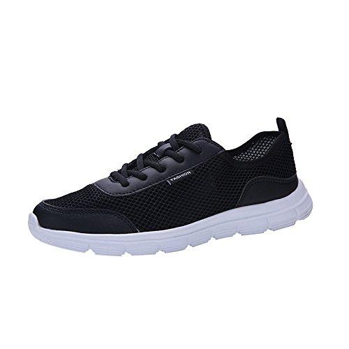 VECDY Herren Schuhe,Weihnachten Geschenke- Herbst Neue Männer Sportschuhe der zufälligen Paarschuhe im Freien Laufen rutschfeste Wanderschuhe Turnschuhe schwarz Grau Blau 38-47