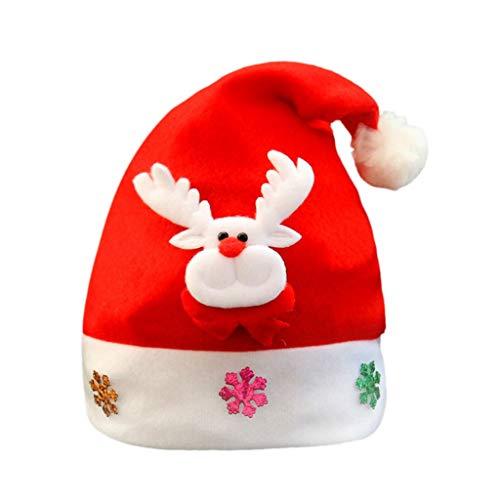 ELECTRI,Bonnet de Père Noël Chapeau de Noël Enfant Adulte Déguisement Décoration de noël