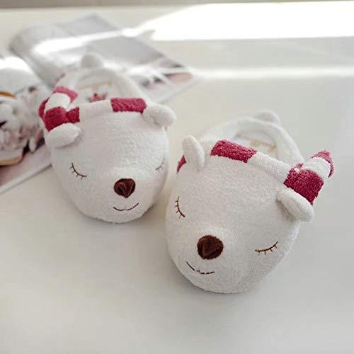 VKGJMHD Art- en wijsdamessierart outdoorschoenen prikkelende wintervrouwen van de beer 3D binnenvoet warm katoen losmaken grote pantoffels