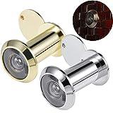 Mengger 2Pcs Türspion mit Sichtschutz 200 Grad Weitwinkel Türen 16mm Spion für 35-55mm Türblätter Hochwertige Echtglaslinse