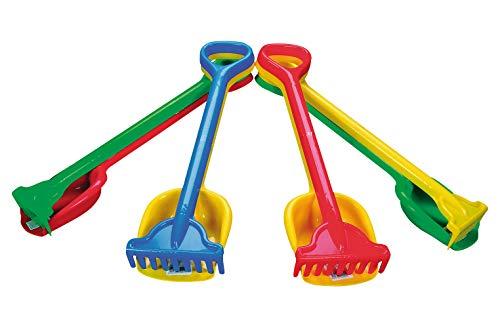 Simba 107124115 - Rechen+Schaufel, es wird nur ein Artikel geliefert, Länge 56cm, Sandkasten, Sandspielzeug
