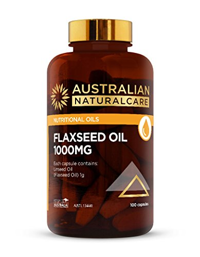Australian NaturalCare - Nutritional Oils - 1000mg Flaxseed Oil Capsules (100 Count)