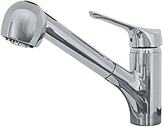 Franke FFPS20080 Vesta Single Handle Pull-Out Kitchen Faucet, Satin Nickel
