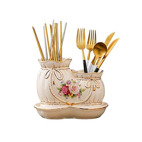 HGJINFANF Esta es una vajilla Exquisita Que Debe usarse en c Tubo de Palillos Tubería de Estampado de cerámica Estructura de Almacenamiento de la Cocina, Regalo de la Boda, Regalo de la Boda