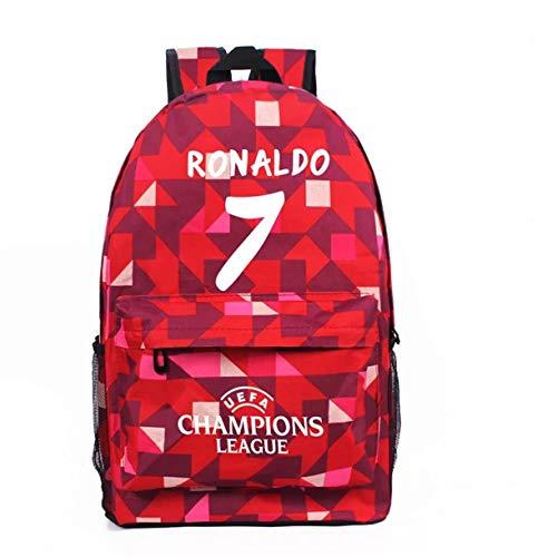 GoBen Kids Students Cristiano Ronaldo School Backpack Book Bag-UEFA Travel Bag Laptop Backpack-Backpack for School,Travel