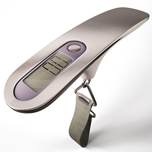 Luggage Scale Digital by Adfilic, Electronic Hanging Travel Portable Electronic Display Handheld Best for Weighing Airline Postal Baggage for Travelers, with 110 LBs of Weight