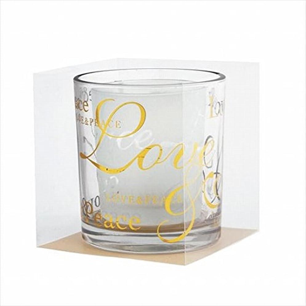 局選挙アルカトラズ島カメヤマキャンドル(kameyama candle) ラブ&ピースデュエットグラス 「 ゴールド 」
