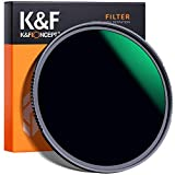K&F Concept 72MM ND Filter ND1000 10 Stops, Neutral Density Lens Filter HD 18 Layer Neutral Grey ND Lens Filter with Multi-Resistant Nano Coating for Canon Nikon Lens