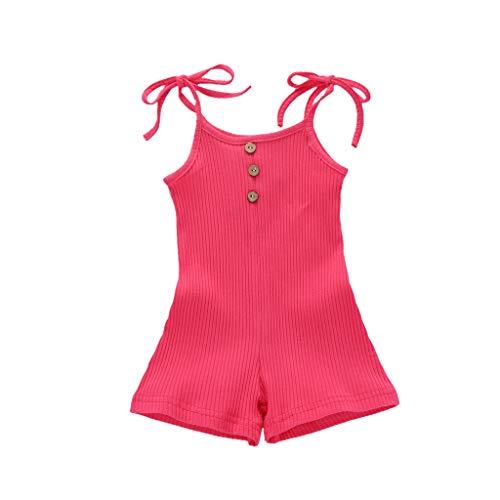 Janly Clearance Sale Enterizo de 0 a 24 meses para niñas de 0 a 3 meses, para bebés de 0 a 3 meses, regalo de Pascua de San Patricio (rosa caliente)