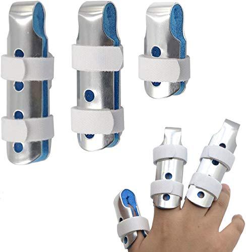 BRMDT Trigger Finger Splint, Aluminum Thumb Splint Finger Support for Promote the Rehabilitation of Finger Fracture Fingers /Bent Finger, Finger Splints for Straightening, Adjustable Finger Brace(3 Pieces, 3 Size)