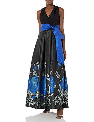 Eliza J Womens Halter Neck Ballgown Sleeveless Dress - Black -