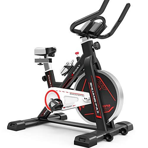 QQLK Sports Cyclette Aerobica da Spinning Allenamento - Indoor Fitness Cardio Spin Bike - Freno Silenzioso, Magnetoresistenza Continua, Sedile Regolabile, Carico 100Kg