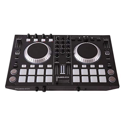 Houozon DJ 4-kanaals MIDI-controller, CD-audio-mengpaneel, mixer, professioneel elektronisch muziekapparaat met pads, geschikt voor het feestplatform van een nachtclub.
