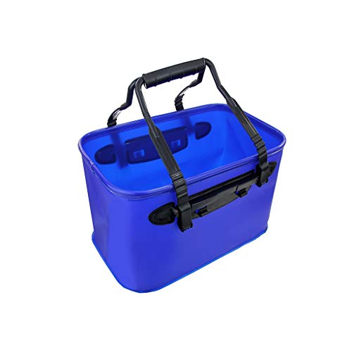 Klein Huishoudelijk Outdoor Car Wash Portable Grote opvouwbare waterzak Car Wash Gereedschap Car Wash Bucket Brush Car Bucket Stevig (Color : Blue, Size : Without cover)