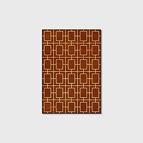 AZDS Alfombra De Área Moderna, Extra Grande Pequeña Mediana Tamaño Rectangular Alfombra Diseño De Bloques Geométricos Alfombras Alfombrilla De Jardín Suave Y Sin Deformaciones