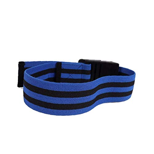 shentaotao Occlusion Training Bands Blood Flow Restriction Bands Starke Verstellbare Riemen Bequemes Elastische Band Schnelles Muskelwachstum 1set Blau