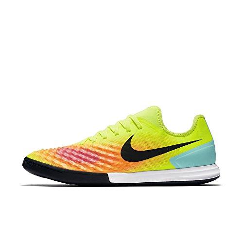 Nike Magistax Finale II IC, Scarpe da Calcio Uomo, Giallo/Nero/Arancione/Rosa (Volt/Black-Total Orange-Pink Blast), 47.5 EU
