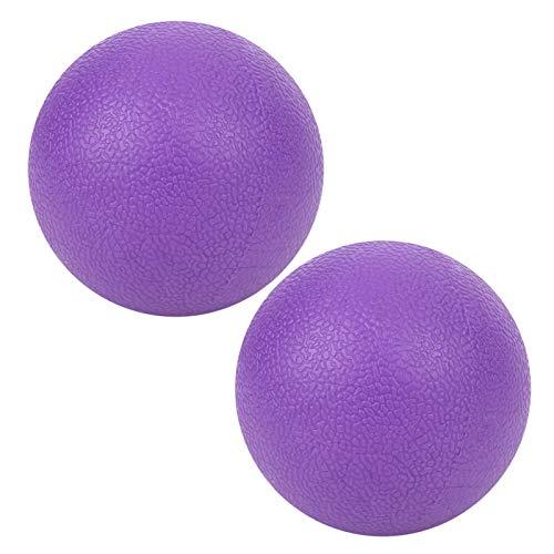 Bola de masaje de yoga duradera púrpura de 2 piezas de rendimiento estable profesional, alivia la fatiga muscular, repara el daño muscular