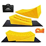 ROBLOCK RV Leveling Blocks - 2 Pack Camper Leveler Kits, Heavy Duty Curved Blocks Works for 30,000 LBS RV, Trailer, Campers