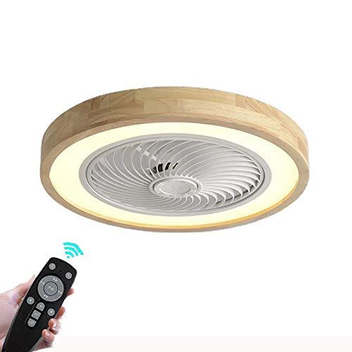 Ventiladores para el techo con lámpara, Plafon de Techo Regulable Moderna Con Mando a Distancia, Velocidad Del Viento Ajustable, lámpara de ventilador Ultra Silencioso invisible,3000K-6500K, Ø50CM