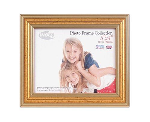 Inov8 Brits gemaakte traditionele foto- en fotolijst 5x4 inch Gold 600