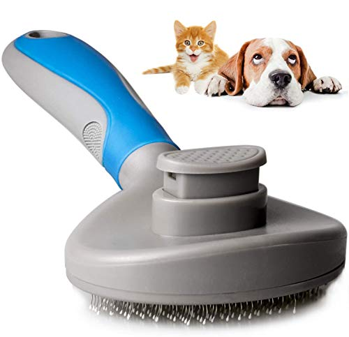 9ABOY Dog Brush and Cat Brush, Pets Grooming Brush for Dog and Cat with Short or Long Hair Removes Undercoat Shedding Mats and Tangled Hair Ideal for Dander Dirt Massages Particle Pet Grooming Comb