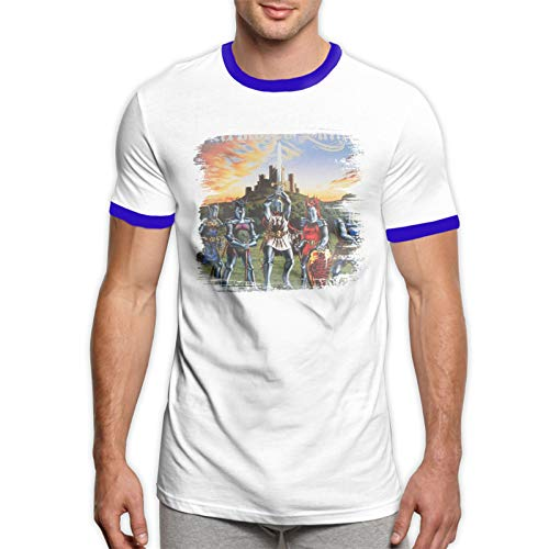 Armore Sain Marc O Th Sain Men's Graphic Cotton Short Sleeve T-Shirt Blue S