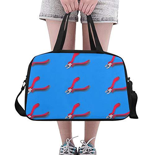 LMFshop Damenhandtaschen Niedliche Cartoon Mode Zangen Werkzeuge Yoga Gym Totes Fitness Handtaschen Reisetaschen Schuhtasche Für Sportgepäck Damen Outdoor Tote Reißverschlusstasche