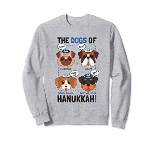 Funny Hanukkah Dog Pun Gifts For Men Women Kids Sweatshirt