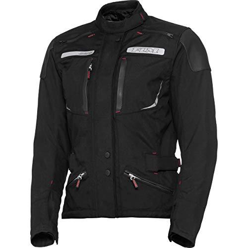 FLM Motorradjacke mit Protektoren Motorrad Jacke Damen Reise Textiljacke 2.1 schwarz L, Enduro/Reiseenduro, Sommer