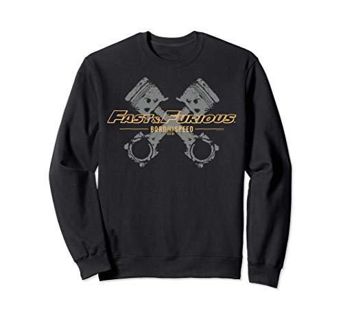 Fast & Furious Engine Piston Born For Speed Logo Felpa