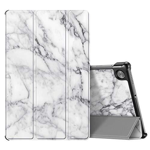 Fintie SlimShell Funda Compatible con Lenovo Tab M10 HD (2.ª generación) 2020 - Tablet de 10.1' Carcasa Fina y Ligera con Función de Soporte y Auto-Reposo/Activación, Mármol