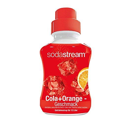SodaStream Sirup Cola-Orange, Ergiebigkeit: 1x Flasche ergibt 12 Liter Fertiggetränk, Cola-Mix Sekundenschnell zubereitet und immer frisch, 500 ml, rot