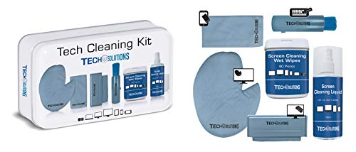 Antibacterial Tech Cleaning Kit - The Hygienic Cleaning Solution for All Your Tech Products Including Phones, Tablets, TV's, Remotes, Consoles, Keyboards and More.