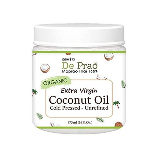 Bloomma Huile de Noix de Coco Thai Vierge pressée au Froid Organique Non raffinée sans Gras Trans ni Produit Chimique Non-OGM Huile de Noix de Coco pour Les Cheveux, la Peau