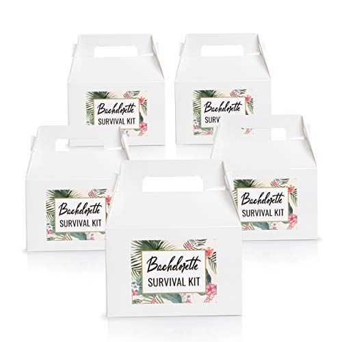 Bachelorette Party Favors Gift Boxes for Bride Survival Kit (Set of 5)