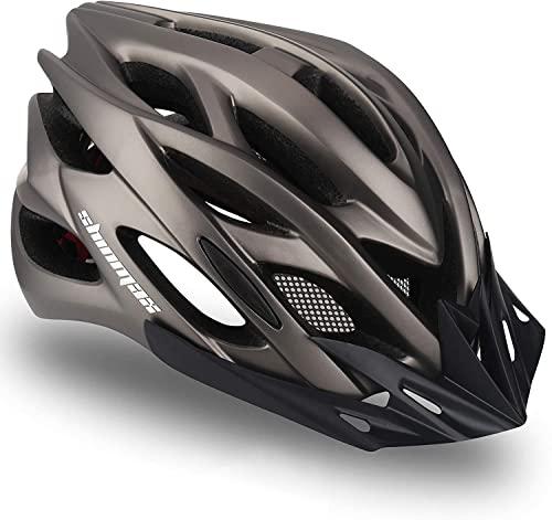 Casco Bicicleta/Casco Bicic con Luz LED,Certificado CE,Casco Ciclismo con Visera y...