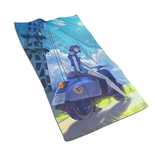 DJNGN Psalms of Planets Eureka Seven Towels Toallas de Microfibra Toalla de baño Toallas de Mano Accesorios de baño Súper Suave, Felpa y Altamente Absorbente Baño Gimnasio Deportes SPA Viajes Camping