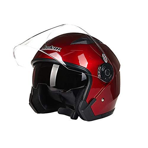 Folconauto Casco de Moto Scooter, Casco de Moto de Cara Abierta Jet Cr