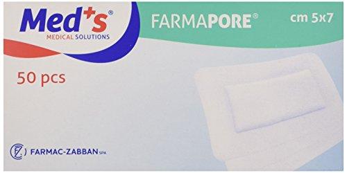 Farmac Zabban 1206310507M FarmaPORE Medicazione Adesiva in Cerotto 5 x 7 cm in TNT