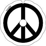 Rollstuhl Speichenschutz (Paar) für Greifreifen 52,51 bis 53,50cm Außendurchmesser, Runde Halter - Peace Noir et blanc