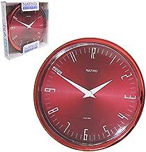 Relógio de Parede Nativo Vermelho 22cm