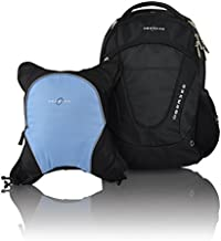 Obersee Oslo Diaper Bag Backpack with Detachable Cooler, Black/Cloud